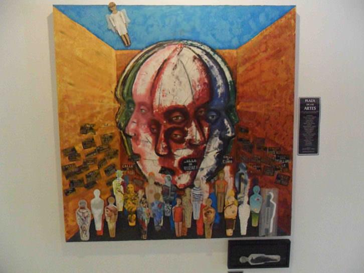 Obra de Miguel Ángel Aranda que dio origen a Pinceladas colectivas. Galería Imprevisual.