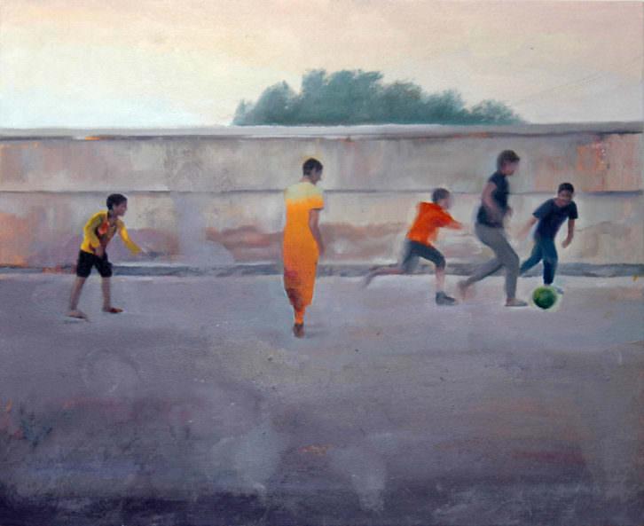 José Antonio Hinojos. Asymetric Warfare (serie), óleo sobre tela, 60x73cm. 2014. Cortesía del artista.