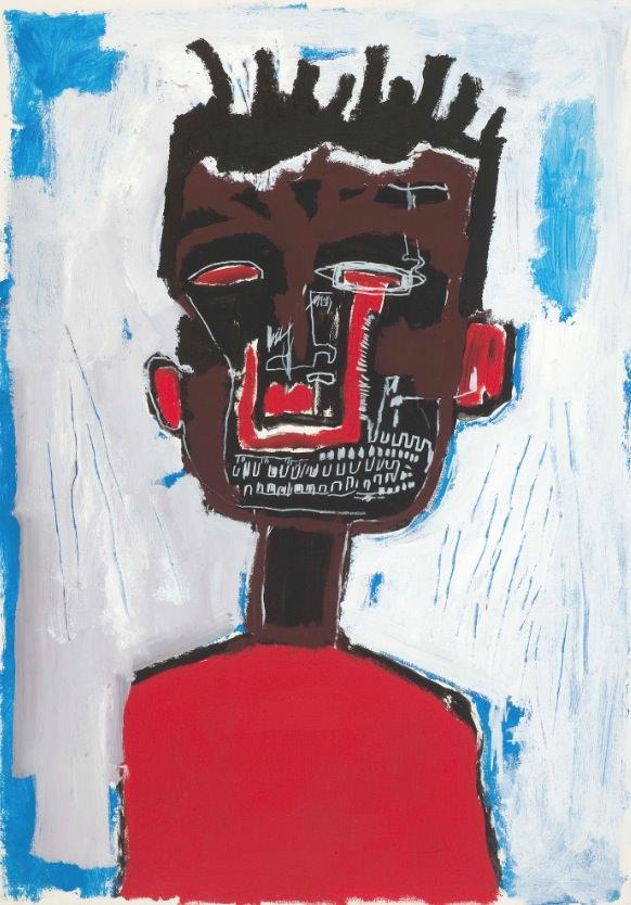 Autorretrato, de Jean-Michel Basquiat. Cortesía de Museo Guggenheim Bilbao.
