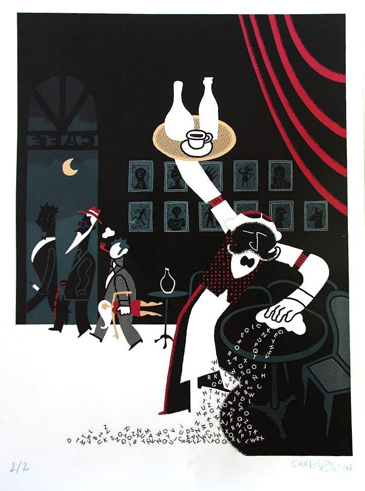 Ilustración de Carlos Ortin. Ilustradores por Nepal. Cortesía de La Nau de la Universitat de València.