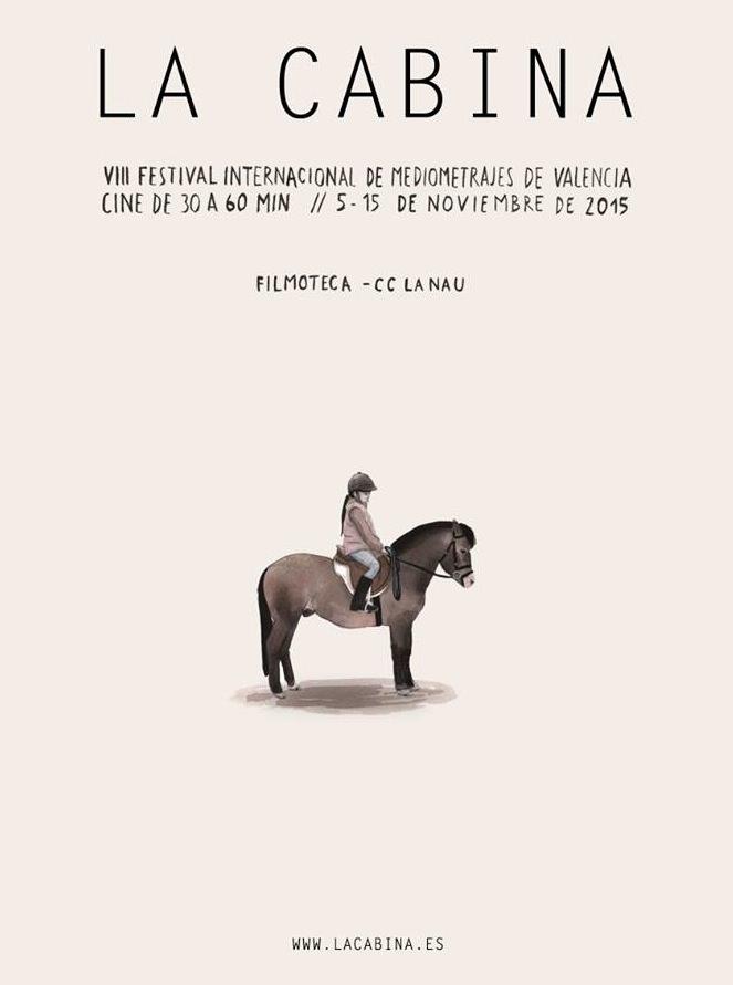 Cartel de Escif para la VIII edición de La Cabina. Imagen cortesía de la organización del Festival Internacional de Mediometrajes de Valencia.