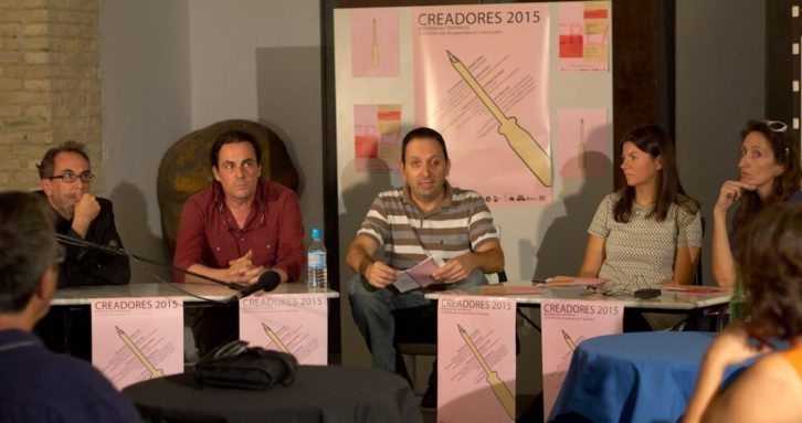 De izquierda a derecha, Eusebio Calonge, Pedro Giménez, Gabriel Ochoa, Laura Monrós y Rosa Sanmartín, durante la presentación de Creador.Es en la Sala Off. Cortesía de la organización.