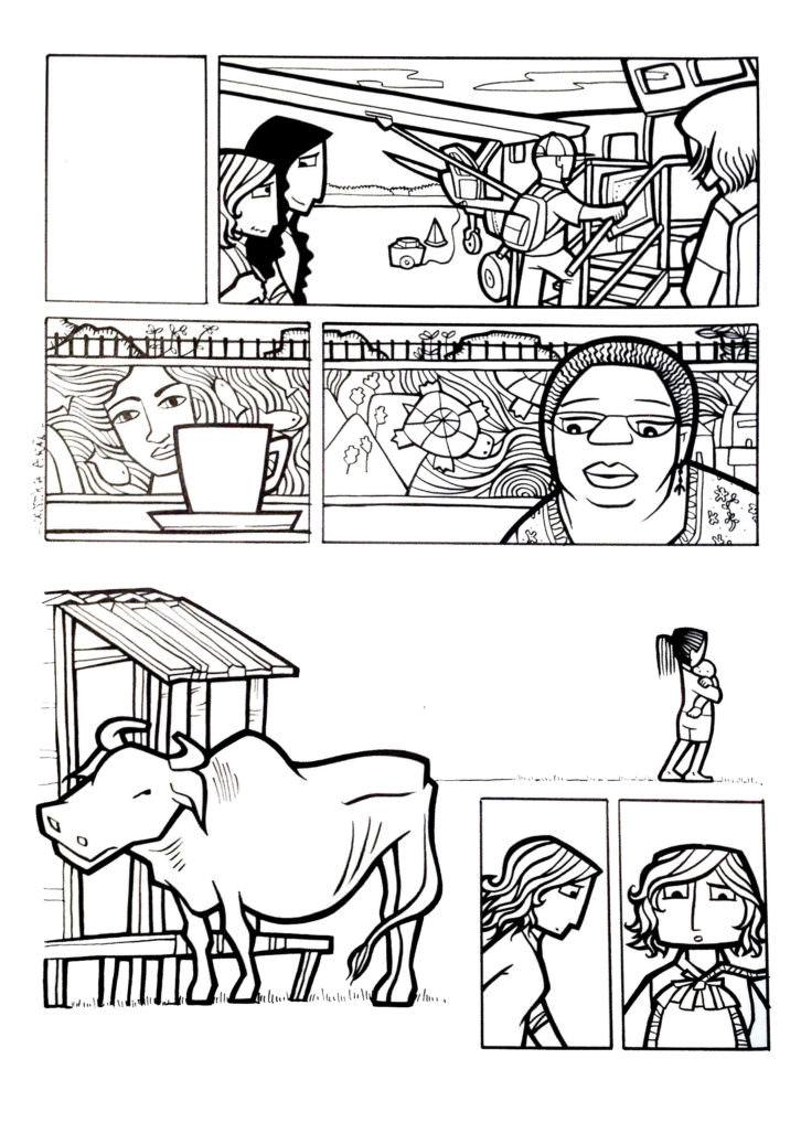 Ilustraciones de Cristina Durán en 'Ilustraciones por Nepal'. Cortesía de APIV.