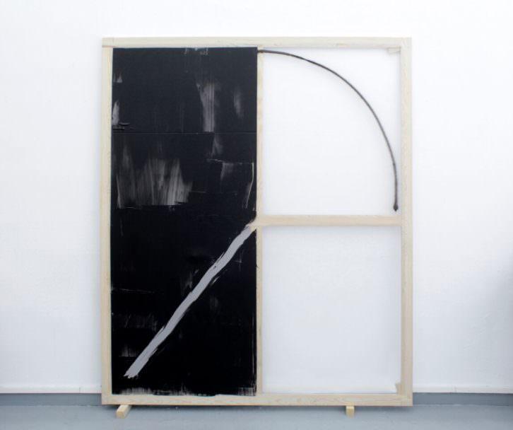 Rubén M. Riera. De-Venir, 2015. Spray y acrílico sobre polietileno transparente y bastidor de madera, 195x163 cm. Cortesía Mardel.