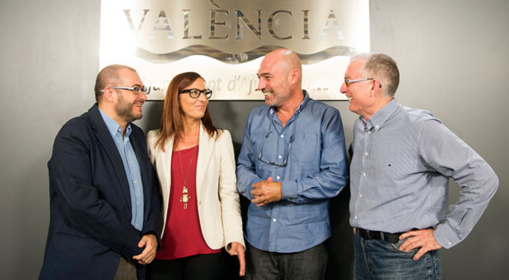 De izquierda a derecha, Rafael Company, Maria Josep Amigó, Xavier Rius y Francesc Tamarit.