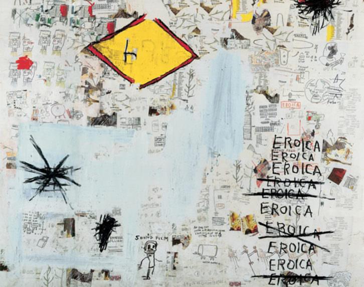 Eroica, de Jean-Michel Basquiat. Cortesía de Museo Guggenheim Bilbao.