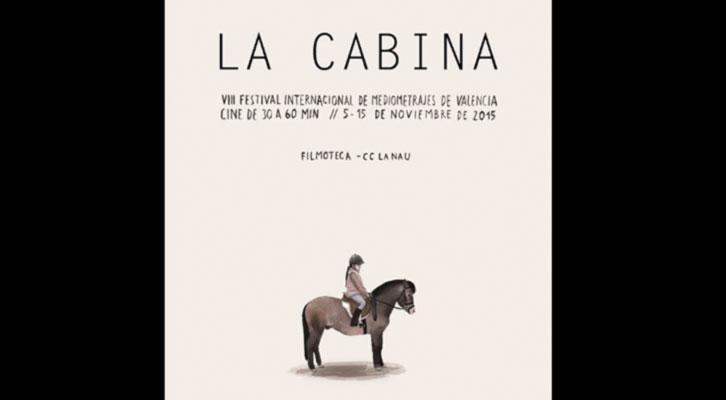 Cartel de Escif para la VIII edición de La Cabina. Cortesía de la organización del Festival Internacional de Mediometrajes de Valencia.