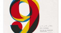 Cartel del 9 de octubre diseñado por Gallén + Ibáñez. Imagen cortesía del estudio.