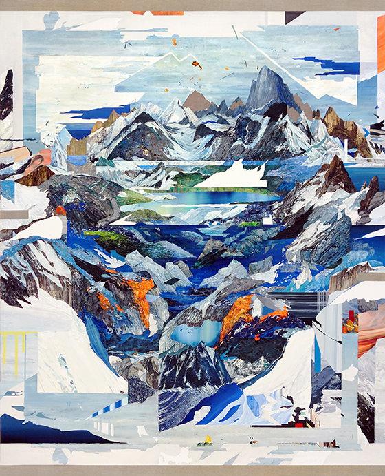 Santiago Giralda. ICEBERG, óleo sobre lino, 200 x 162 cm, 2014. Cortesía del artista.