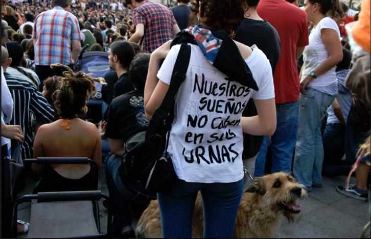 Andrés Castillo. Serie Indignados, Fotografía. Mayo 2011. Cortesía del artista.