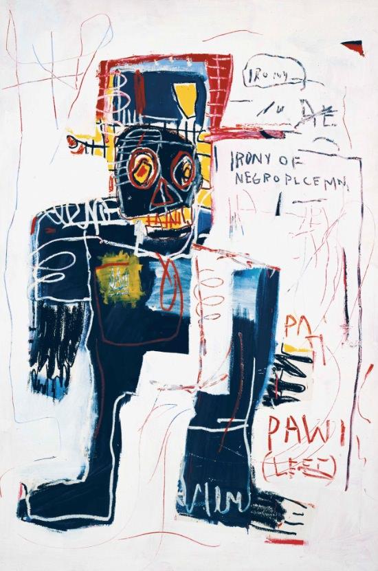 La ironía de un policía negro, de Jean-Michel Basquiat. Cortesía de Museo Guggenheim Bilbao.