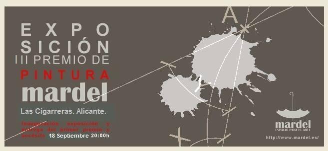 Cartel promocional de la exposición III Convocatoria de Pintura Mardel. 2015. Cortesía de Mardel.