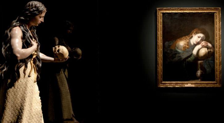 Dos de las piezas expuestas en 'Tiempos de melancolía'. Cortesía del Museo Nacional de Escultura de Valladolid.