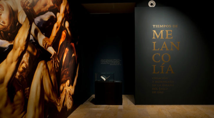 Vista de la entrada a la exposición 'Tiempos de melancolía'. Cortesía del Museo Nacional de Escultura de Valladolid.