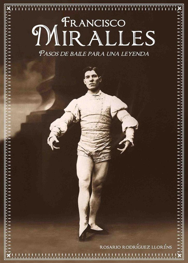 Portada del libro Francisco Miralles. Pasos de baile para una leyenda. Fotografía: Paul Darby & Wyss. Diseño: Carmen Nácher Rodríguez.