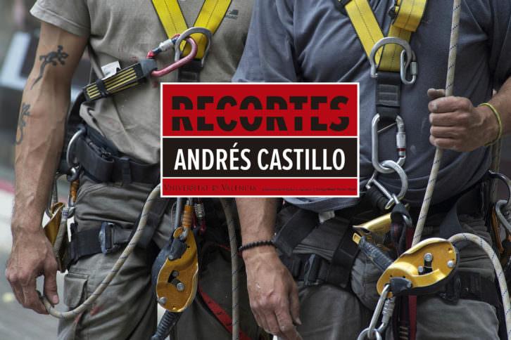 Cartel promocional de la exposición Recortes de Andrés Castillo.2015. Cortesía del artista.