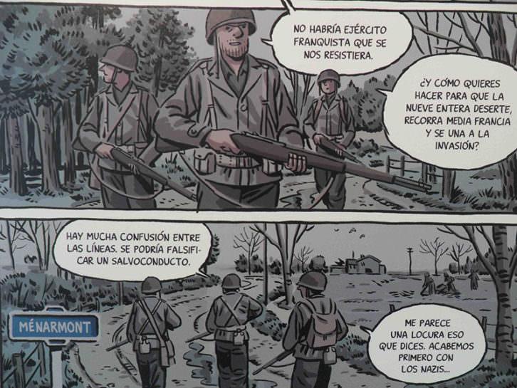 Ilustraciones de 'Los surcos del azar' en la exposición 'Paco Roca. En Venta', con la que se inaugura la galería Pepita Lumier.