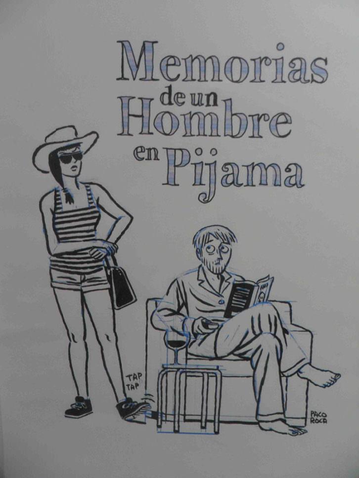 'Memorias de un hombre en pijama' en la exposición 'Paco Roca. En Venta'. Galería Pepita Lumier.