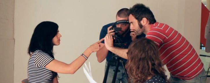 Imagen del spot de bienvenida realizado por EscaparateVisual del Russafa Escènica 2015.