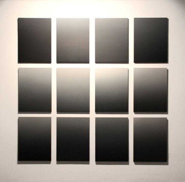 José Luis Cremades. Todos los colores. Acrílico sobre lienzo, 81x61 cm. (x12). Cortesía Mardel.