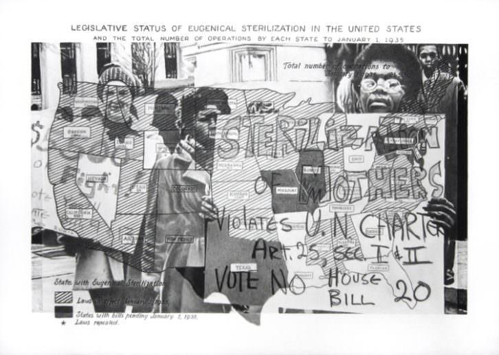 Ernesto Casero. Legislative status, 2015. Lápiz compuesto sobre papel, 70x100 cm. Cortesía Galería pazYcomedias.