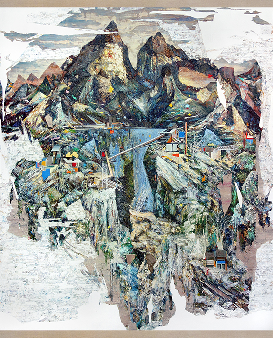 Santiago Giralda, THE BUILD UP, óleo sobre lino, 195 x 162 cm, 2013. Cortesía del artista.