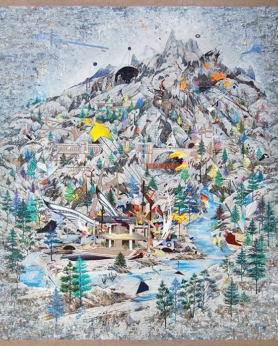 Santiago Giralda. TEMPLO, óleo sobre lino, 250 x 195 cm,  2012. Cortesía del artista.
