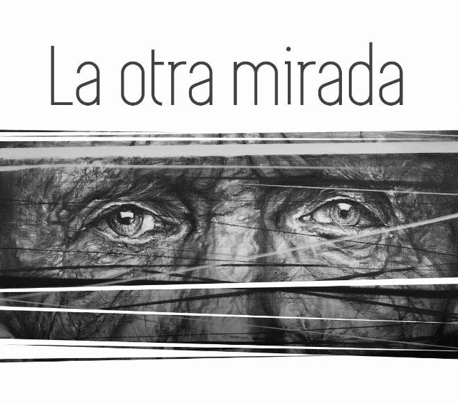 Detalle de la tarjeta de presentación de la exposición La otra mirada, de Hunter, en el Club Náutico de Villajoyosa.