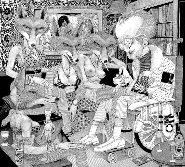 Plusvalía, de la serie Las páginas salmón, de Omega TBS. Kir Royal Gallery.