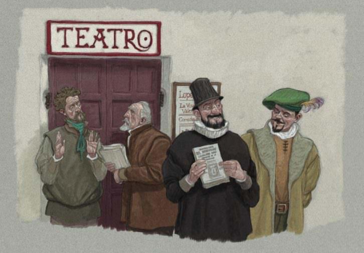 Ilustración de Miguelanxo Prado, en la exposición Miguel EN Cervantes. Imagen cortesía de Acción Cultural Española.