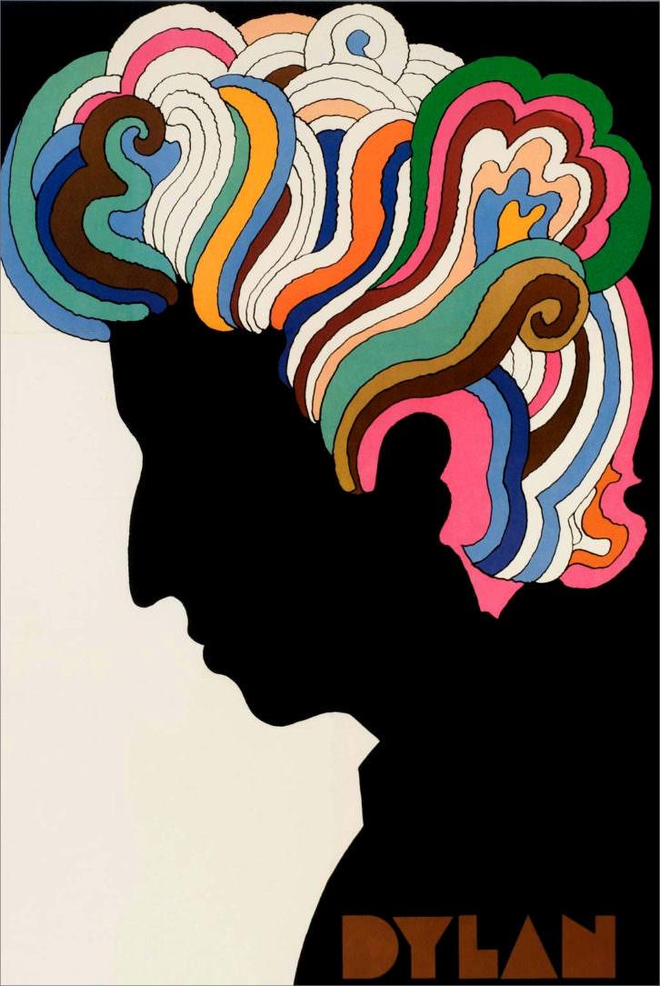 Cartel de Bob Dylan, por Saul Bass. Cortesía del Museo de Bellas Artes de Bilbao.