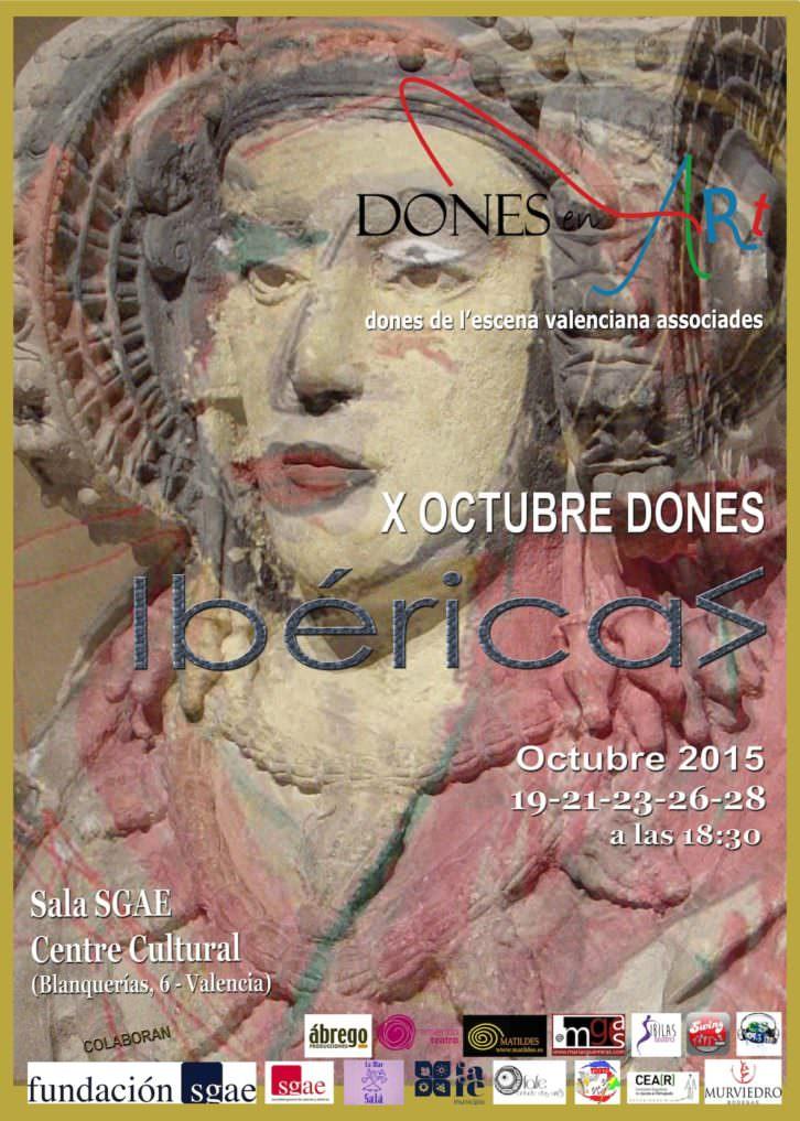 Cartel del X Festival Octubre Dones. Cortesía de Dones en Art.