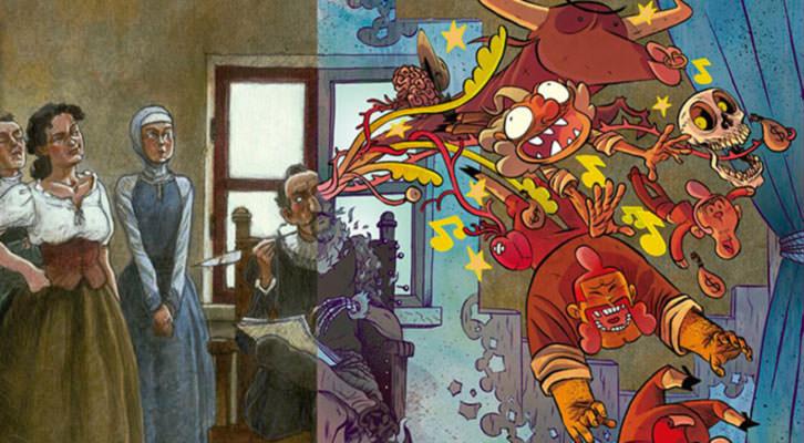 Detalle de la cubierta de Miguel EN Cervantes. Imagen cortesía de Acción Cultural Española.