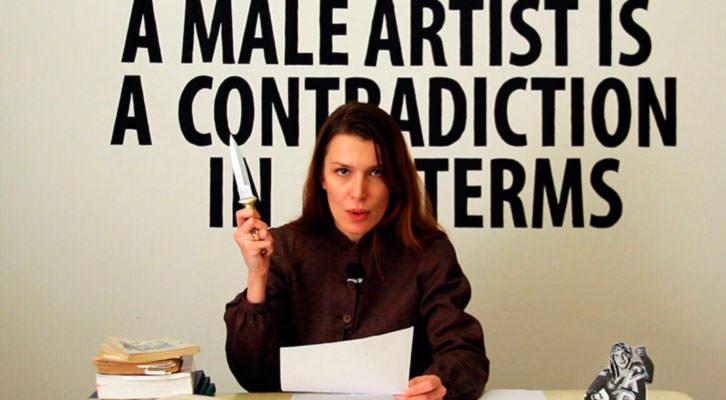 Obra de Chiara Fumai en 'Punk. Rastros en el arte contemporáneo'. Imagen cortesía de Artium.