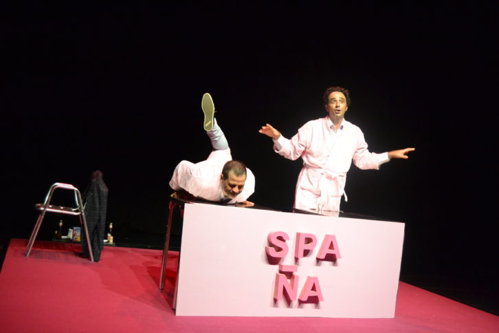 Spaña, una obra de Purna Teatre, en Teatre Micalet. 2015. Cortesía de Lorena Riestra.