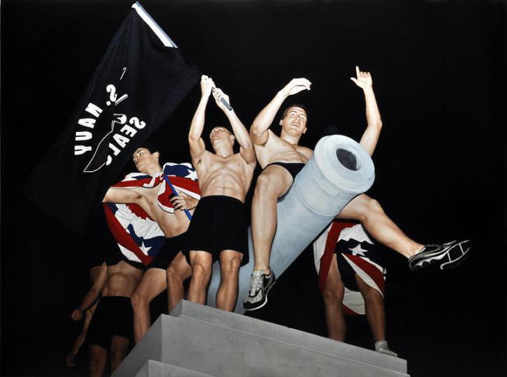 Obra de Kepa Garraza en la exposición Osama. Imagen cortesía de Combustión Espontánea Art Gallery.