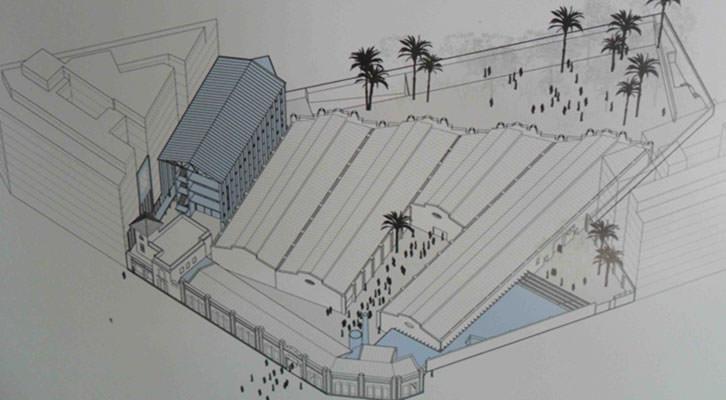 Plano diseño del futuro centro cultural de Bombas Gens.