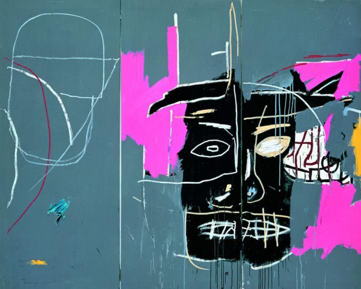 Obra de Jean Michel Basquiat en 'Punk. Sus rastros en el arte contemporáneo'. Imagen cortesía de Artium.
