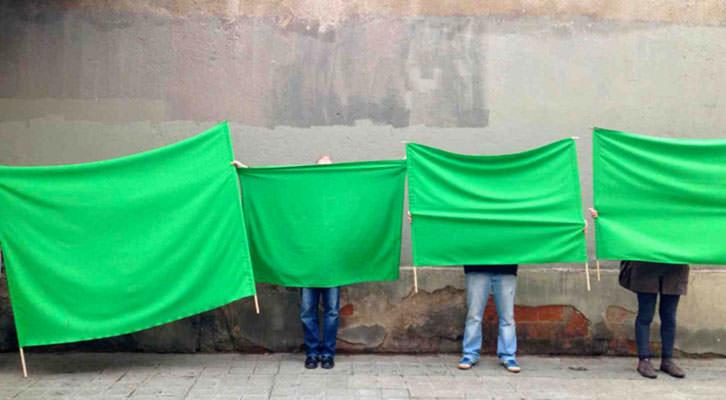 Fotografía de Laia Solé en 'Construyendo democracia'. Imagen cortesía de Fundación Chirivella Soriano.