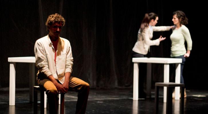 Un instante de la representación de 'La  mirada del otro'. Fotografía cortesía de Rambleta.