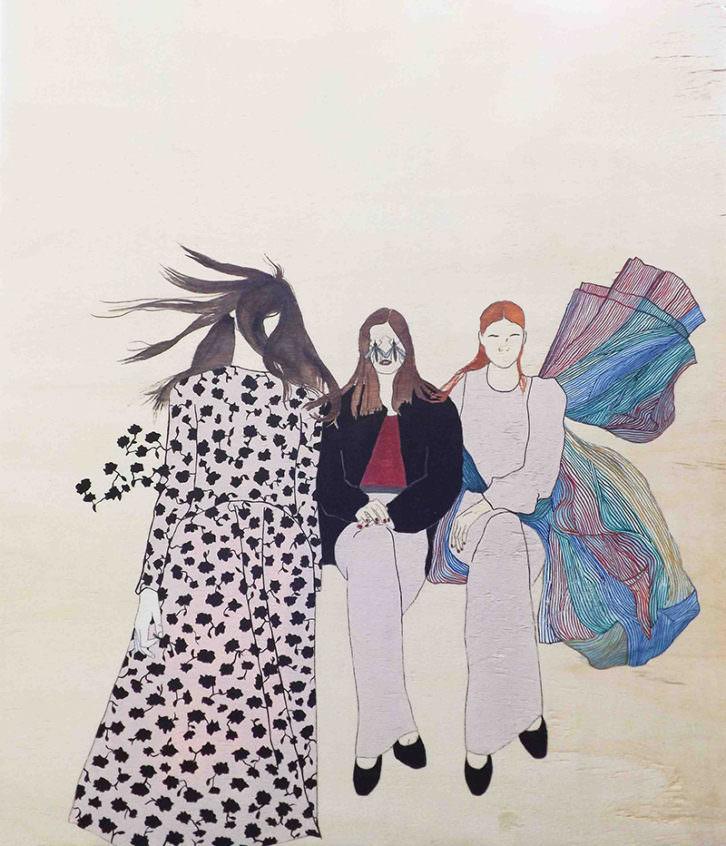 Las princesas delicadas, del  proyecto Las Ausentes, de Estefanía Martín Sáenz, ganadora del I Premio de Dibujo DKV-MAKMA.