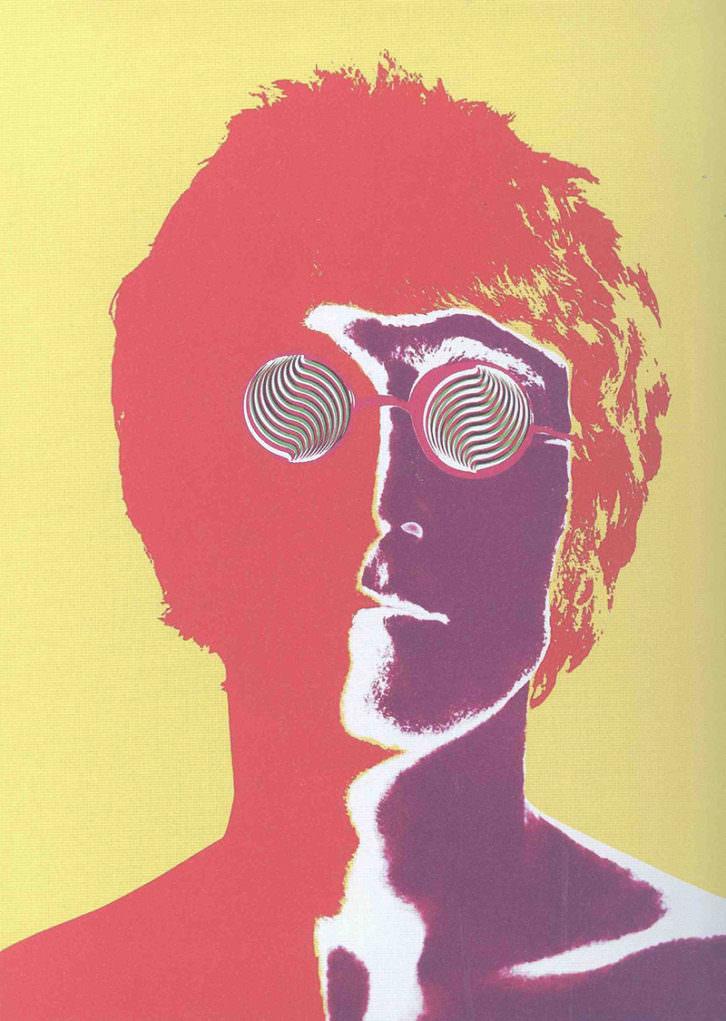Cartel de John Lennon en la exposición Mensajes desde la pared. Cortesía del Museo de Bellas Artes de Bilbao.