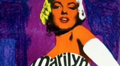 Detalle del cartel Marilyn. Museo de Bellas Artes de Bilbao.