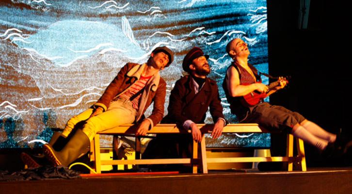 Escena de Moby Dick. Imagen cortesía de Sala Russafa.