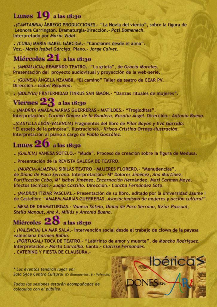 Programa del X Festival Octubre Dones. Cortesía de Dones en Art.