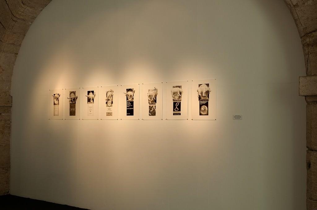 """Muestra del conjunto de obras de la exposición ''Better humans tomorrow!"""" del artista Ernesto Casero. Cortesía del artista."""