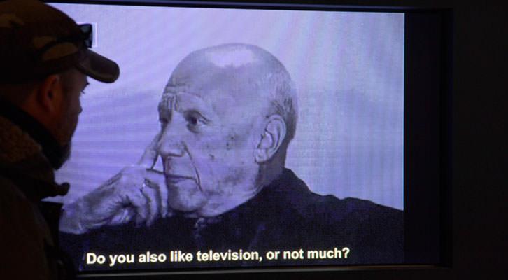 Imagen de la exposición Picasso TV. Fundación Bancaja