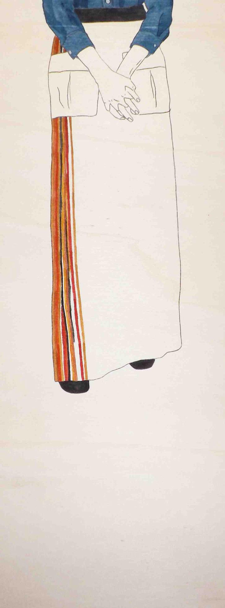 La madre de Juan Sin Miedo, del proyecto Las Ausentes, de Estefanía Martín Sáenz, ganadora del I Premio de Dibujo DKV-MAKMA.