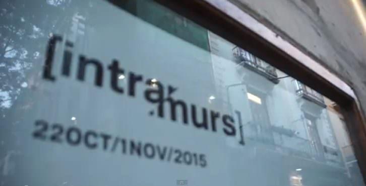 Imagen del video realizado para Intramurs 2015, obra de Tano Giménez y Natxo Sanmartín.