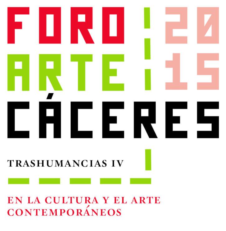 Logotipo de presentación de la nueva edición de Foro Arte Cáceres'15. Cortesía de Foro Arte Cáceres.